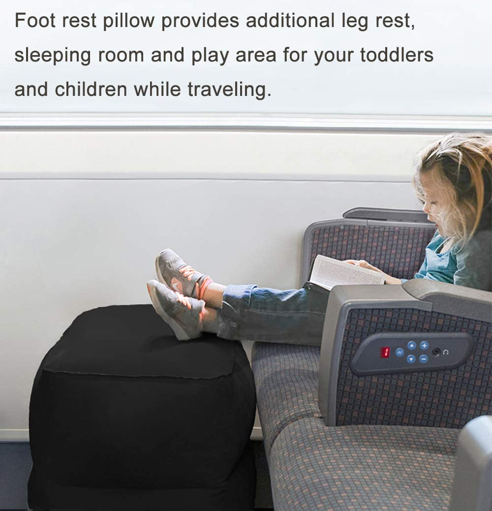 New Style Woo Well Inflatable Footstool Relax Your Legs Let You Enjoy a More Comfortable Life Inflatable Quickly Make You Rest Better Suitable for Airplane and car Rides /& Home /& Office
