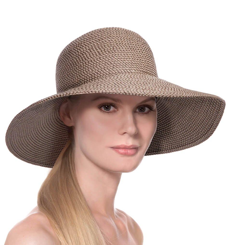 Eric Javits Luxury Fashion Designer Women's Headwear Hat - Hampton - Bark