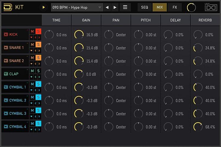 UVI Drum Designer:ドラムエンジン