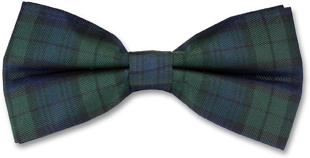Green Wool Scottish Tartan Plaid Skinny Tie Set Slim Royal Blue FREE Hanky C12