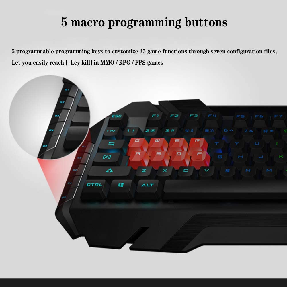 EDCM Keyboard Ordinary Keyboard Mouse Keyboard Computer Gaming Keyboard Ultra-Thin Keyboard and Mouse Design Lightweight Ultra-Thin Keyboard