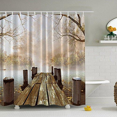 Liberal 3d Surf Sea Beach 78 Shower Curtain Waterproof Fiber Bathroom Windows Toilet Home & Garden Bath