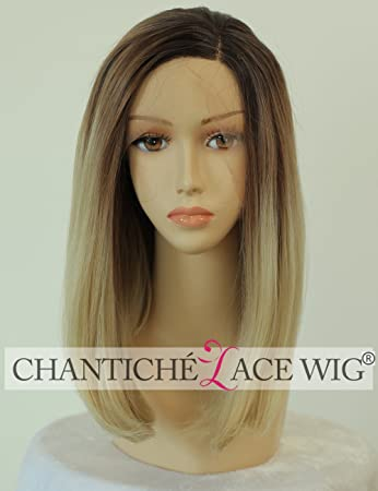 Chantiche Ombre Blonde Kurz Bob Synthetische Haare Borte Vordere