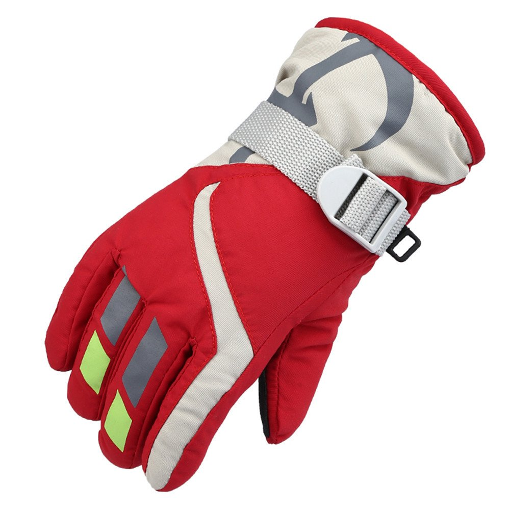 TONSEE Winter Warmest Waterproof and Breathable Snow Gloves for Kids Skiing A) TONSEE_D090