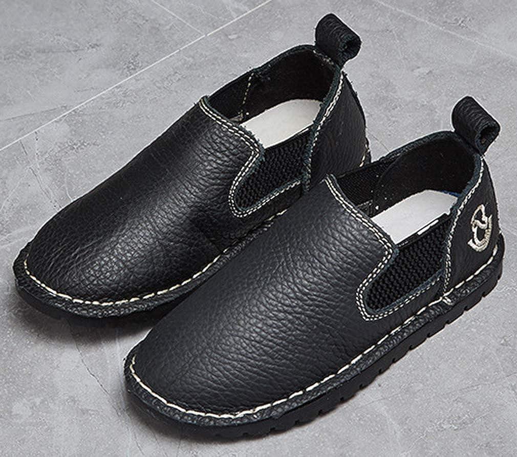 VECJUNIA Boys PU Casual Slip-On Loafer Shoes Low Top School Uniforms