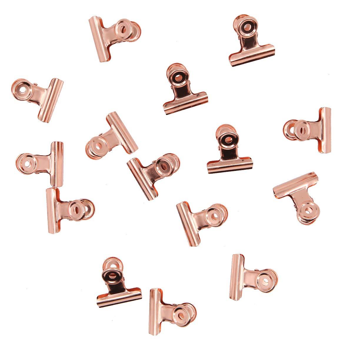 15/pezzi in metallo a morsetto 31/mm rose Gold Bulldog clip per bacheca in sughero e foto da parete