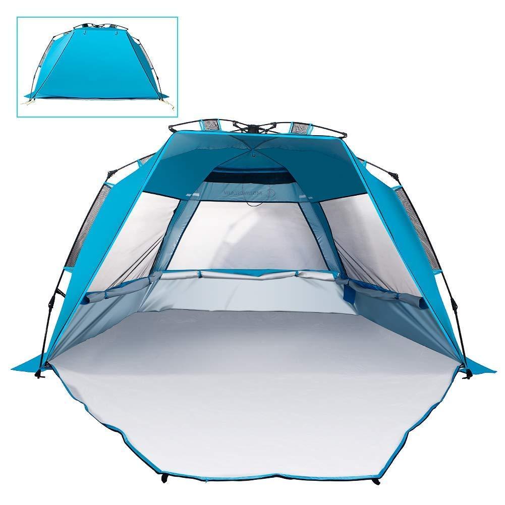 Mounchain Shelter Beach Tent Beach Outdoors Easy Setup Portable Protection Sun Shelter Quick Pop Up Cabana Canopy Super Bluecoast Beach Umbrella UV50+ Sun Protection Fabric Beach Tent [並行輸入品] B07R3Y63NY, ジーナスタイル:d33e3ce5 --- anime-portal.club
