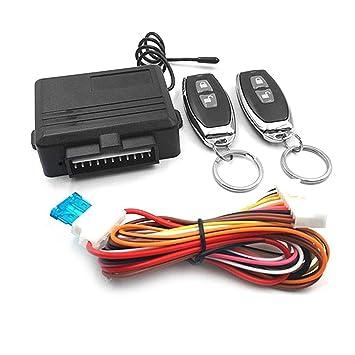 Sistema de Entrada Universal sin Llave Sistema de Alarma de Coche Dispositivo de Control Remoto automático Kit de Cerradura de la Puerta Bloqueo y ...
