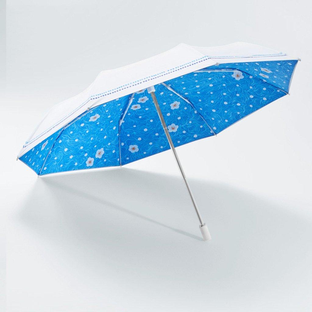 Parapluie Plier Le Pliable Double Soleil et Pluie Doubles Double (Couleur : B)