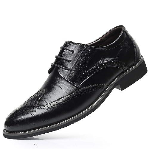 3abcfebfa6e30 Victorics Men's Brogue Carved Wingtip Leather Oxford Shoes Lace up Dress  Shoes Size 7-13