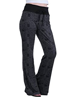 83f9025711 HDE Womens Cotton Pajama Pants Wide Leg Sleepwear Casual Loose Lounge PJ  Bottoms