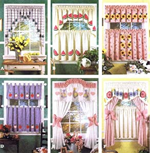 Simplicity 8924 Sewing Pattern Valance Swags Cafe Curtains Curtain Panels Tabs: Amazon.co.uk ...