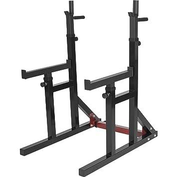 Gorilla Sports Multi Squat Rack Banco para sentadillas con reposapesas, de ancho y largo ajustable con empuñaduras: Amazon.es: Deportes y aire libre