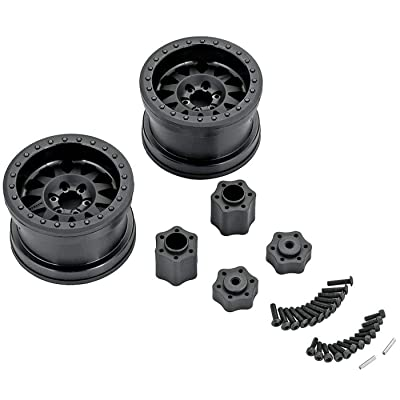 Axial AX31178 Method RC Rock Crawler 12-Spoke Beadlock Wheels with IFD (Interchangeable Face Design) and Hub Adapters, Black (Set of 2): AXIC8076: Toys & Games
