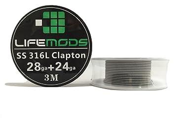 LifeMods Clapton Edelstahl Draht AISI 316L Spule AWG 28/24 Gauge 3 ...