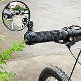 Yeaphy Espelhos de bicicleta, retrovisor ajustável para bicicleta, guidão, retrovisor, retrovisor, espelho, retrovisor, espel