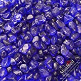 Stanbroil 10-pound Fire Glass Beads for Indoor or Outdoor Fire Pits or Fireplace, 1/2 Sapphire Blue