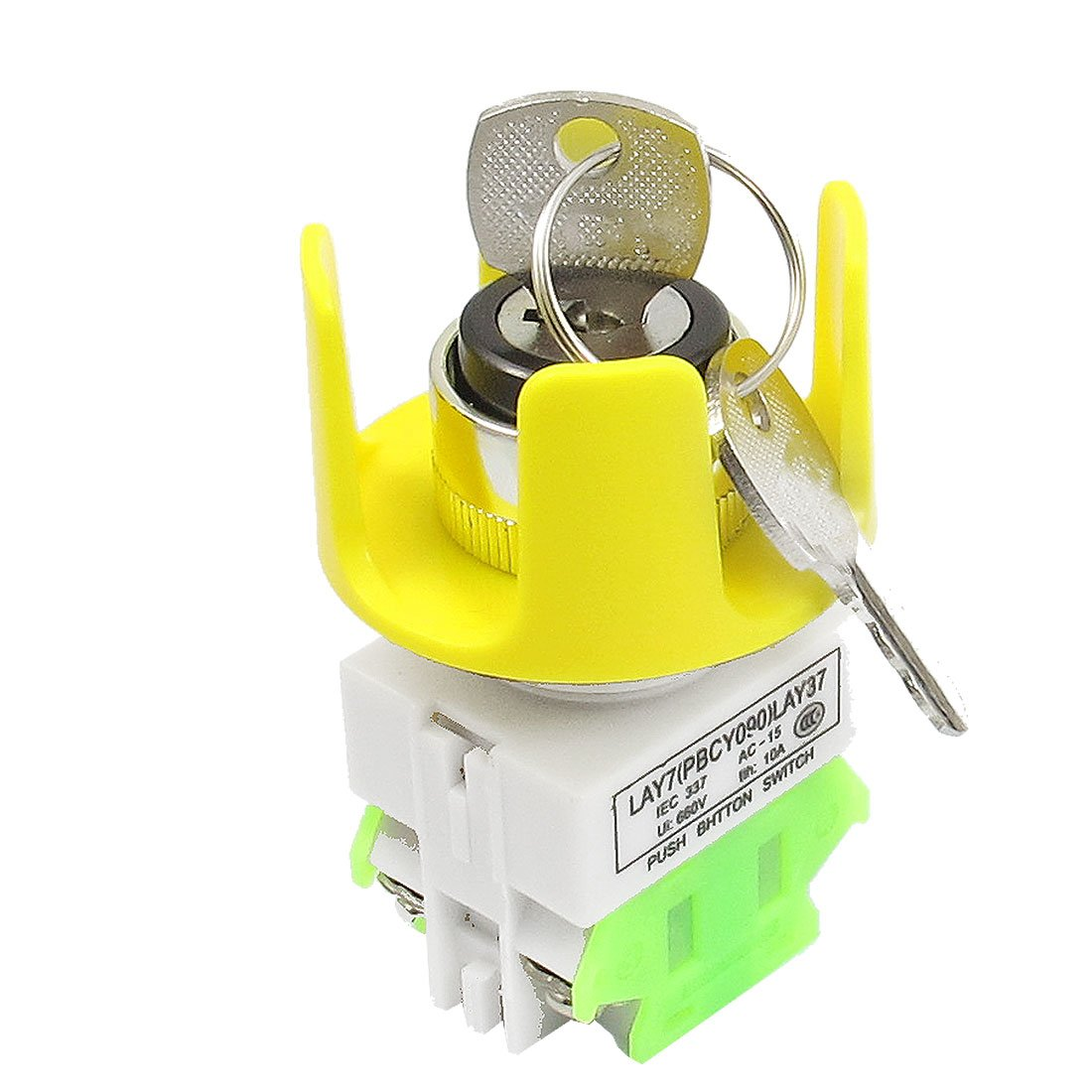 sourcing map 3 Position On/Off/On 4 Screw Terminals Keylock Push Button Switch + 2 Keys a12081700ux0182