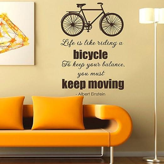 Albert Einstein Cita Decal – la vida es como montar en bicicleta ...