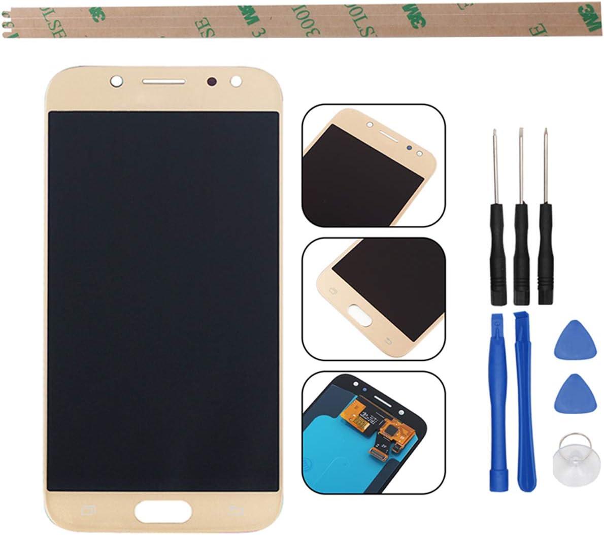 HYYT - Pantalla LCD de Repuesto para Samsung Galaxy J5 (2017) J530 SM-J530F AMOLED LCD y Pantalla táctil