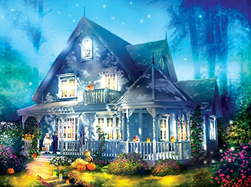 Halloween Lane House 1000 Piece Jigsaw Puzzle by -