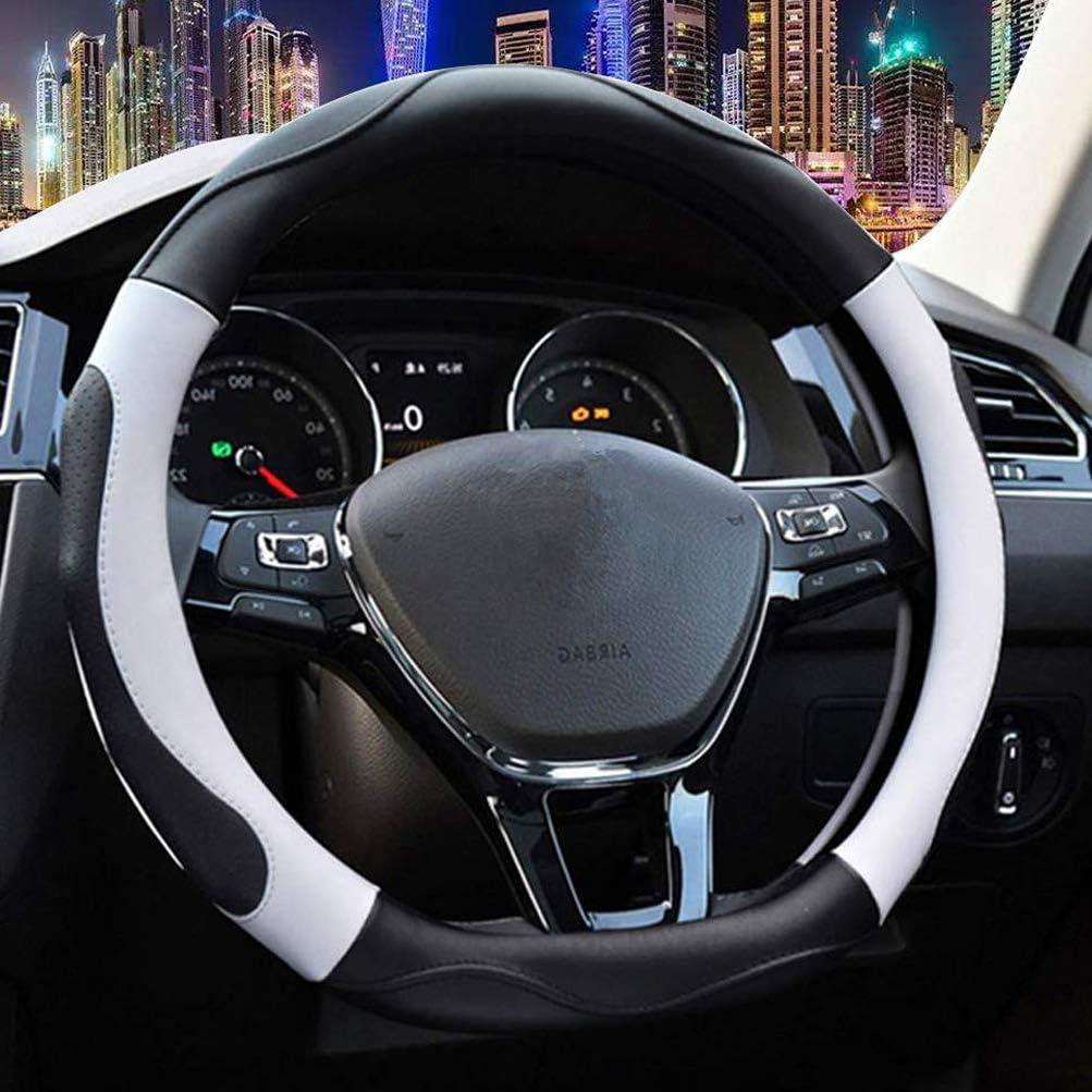 Tesla Model 3 Steering Wheel Cover Wrap White Carbon Fiber