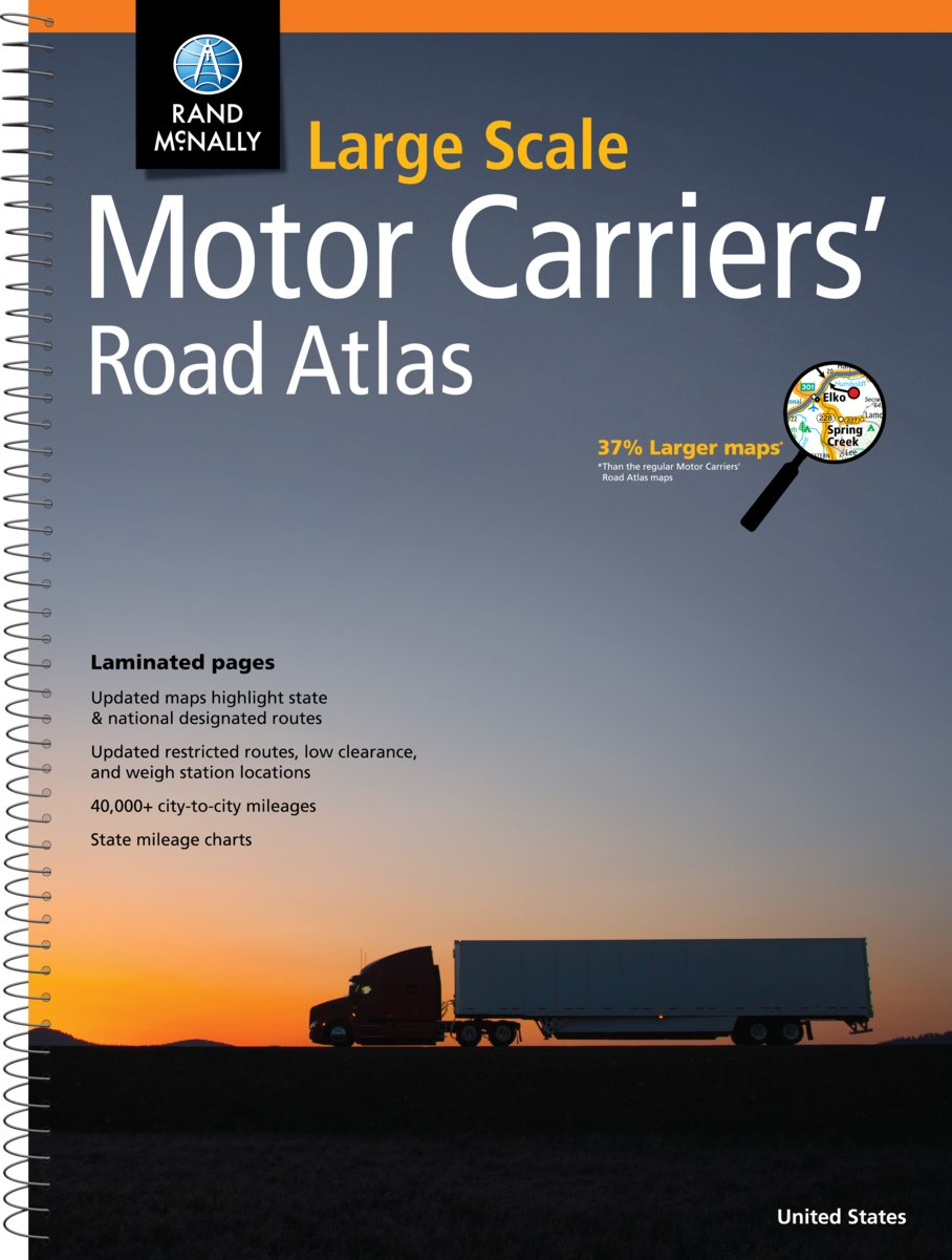 Rand Mcnally Large Scale Motor Carriers Road Atlas Rand Mcnally