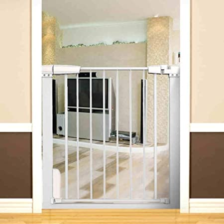 Huo Barrera De Seguridad para Niños, Guardabarros para Escaleras Puerta De Aislamiento Puerta para Mascotas, Se Adapta A Puertas/Pasillos/Escaleras (Color : White, Size : Width 123-133cm): Amazon.es: Hogar