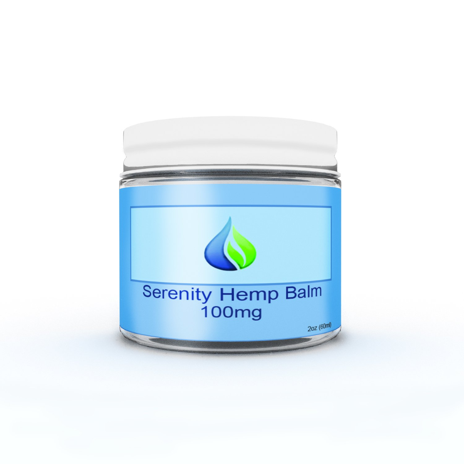 Serenity Hemp Soothing Muscle Salve/Balm - 2oz Jar - 100mg - Certified Organic - 99.9% Pure Full Spectrum Hemp Extract - Pain Relief Rub - Joint Pain - Stress - Anxiety