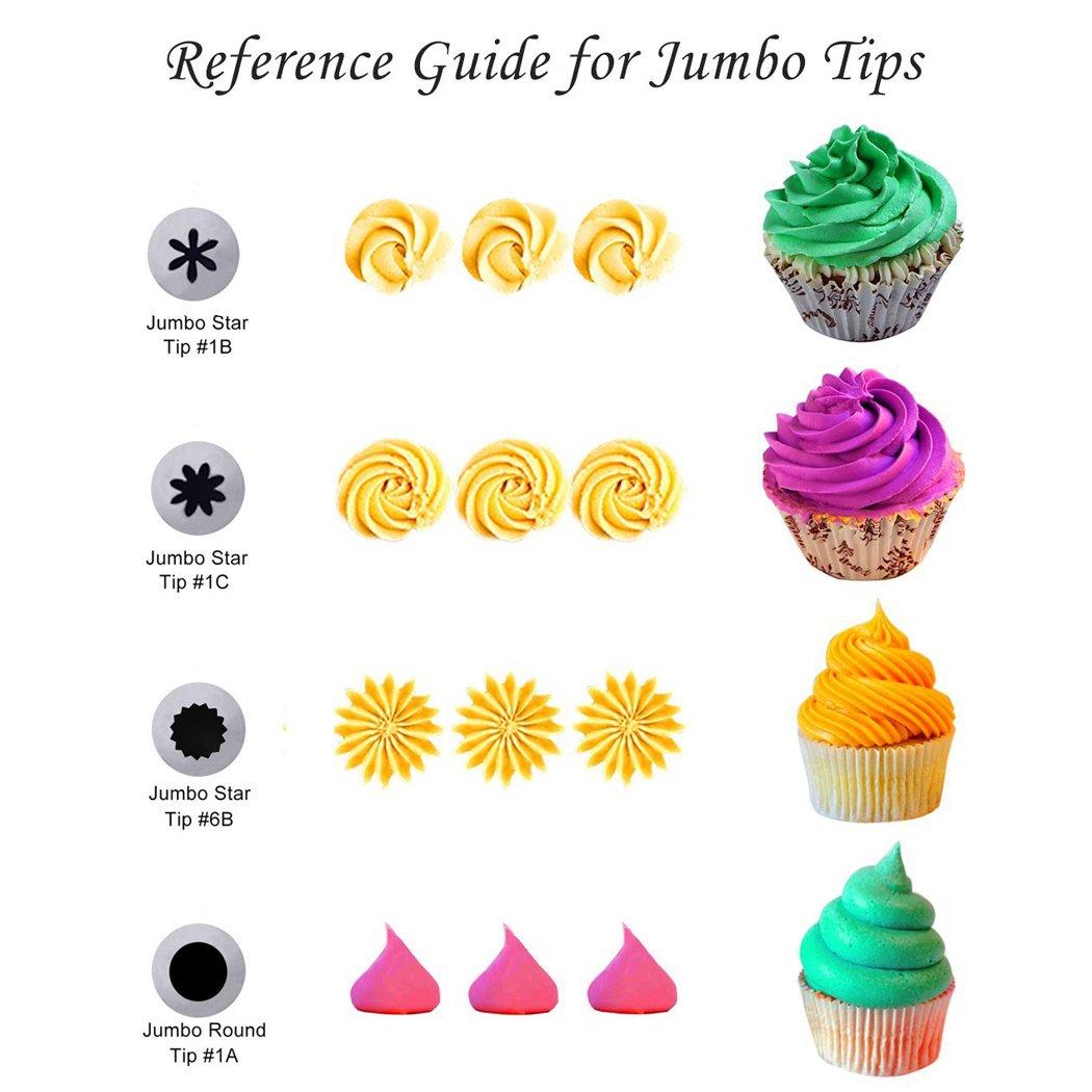 xubox 22 piezas Kit de decoración de pasteles suministro de punta con bolsas de repostería, 2 para repostería de silicona, 17, 1 cepillo de limpieza, ...