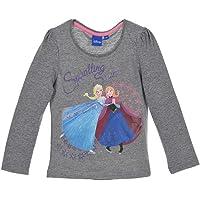 Disney Frozen - Camiseta de manga larga para niña con motivos Elsa y Anna