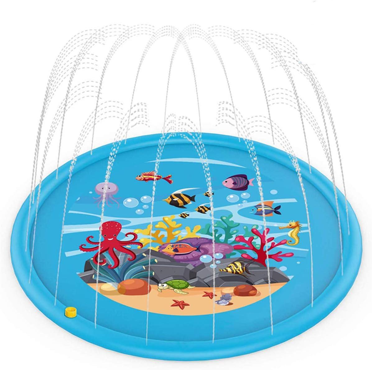 170cm Durchmesser Sprinkler Spielmatte Wasserspielzeug Garten Perfekt f/ür Kinder//Haustiere und Familienaktivit/äten im Freien DENNIS Splash Pad Kinder Wasserspielmatte