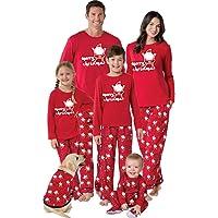 BaZhaHei-Navidad Familia Pijamas Ropa de Dormir Conjunto de Mujeres mamá Papá Noel Remata Blusa Pantalones Conjunto de…