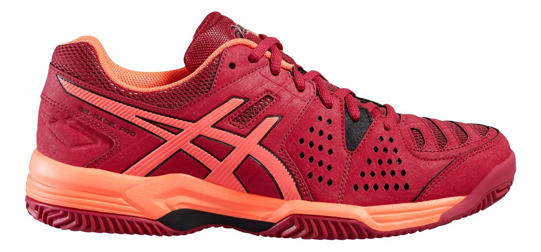 ASICS - Gel Padel Pro 3 SG, Color Rojo, Talla UK-8: Amazon ...