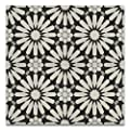 Moroccan Mosaic & Tile House CTP54-01 Alhambra 8''x8'' Handmade Cement Multicolor(Pack of 12), BlackWhiteGray