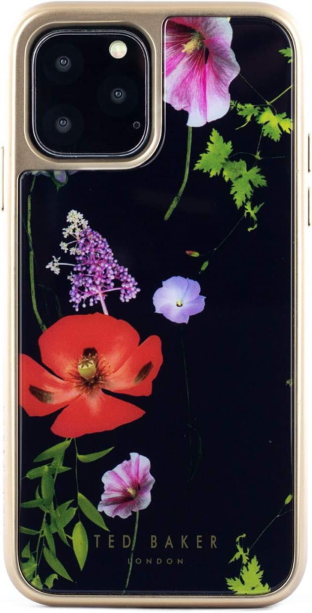 Ted Baker Fashion Branded Premium Case for iPhone 11 Pro - Hedgerow, White