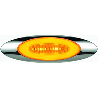 "Optronics 11212706P GloLight, Millennium 4"" Clear Lens LED Marker/Clearance Light Kit, Amber: Automotive"