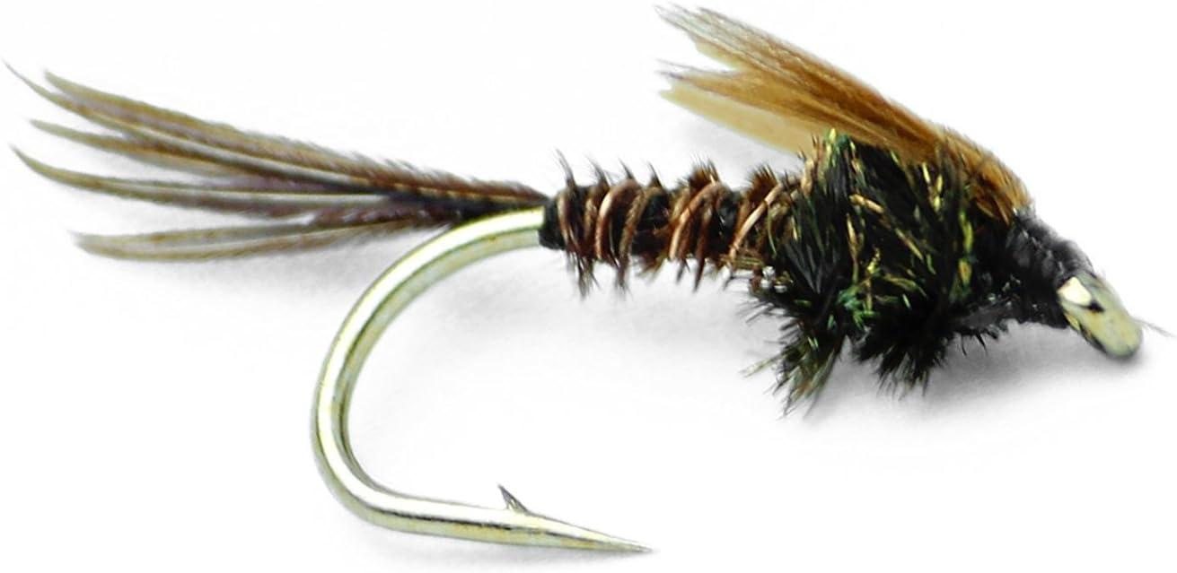 12 /& 14 3 American Pheasant Tail Nymphs Trout Flies Fishing Flies Sizes 10