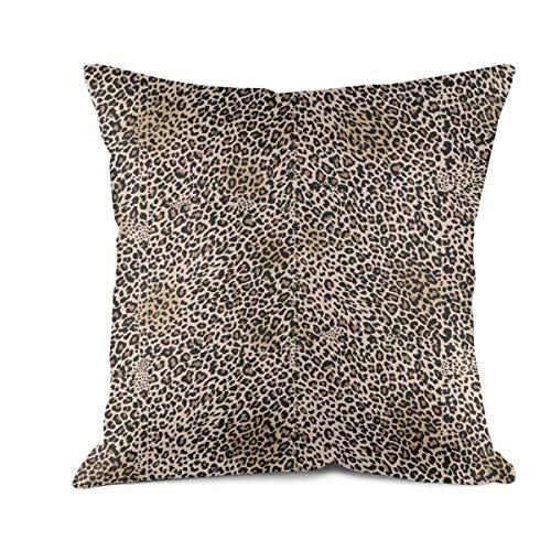 Leopard Cheetah Print Brown Pillow Cover Modern Patterns Cotton Cushion Cover -