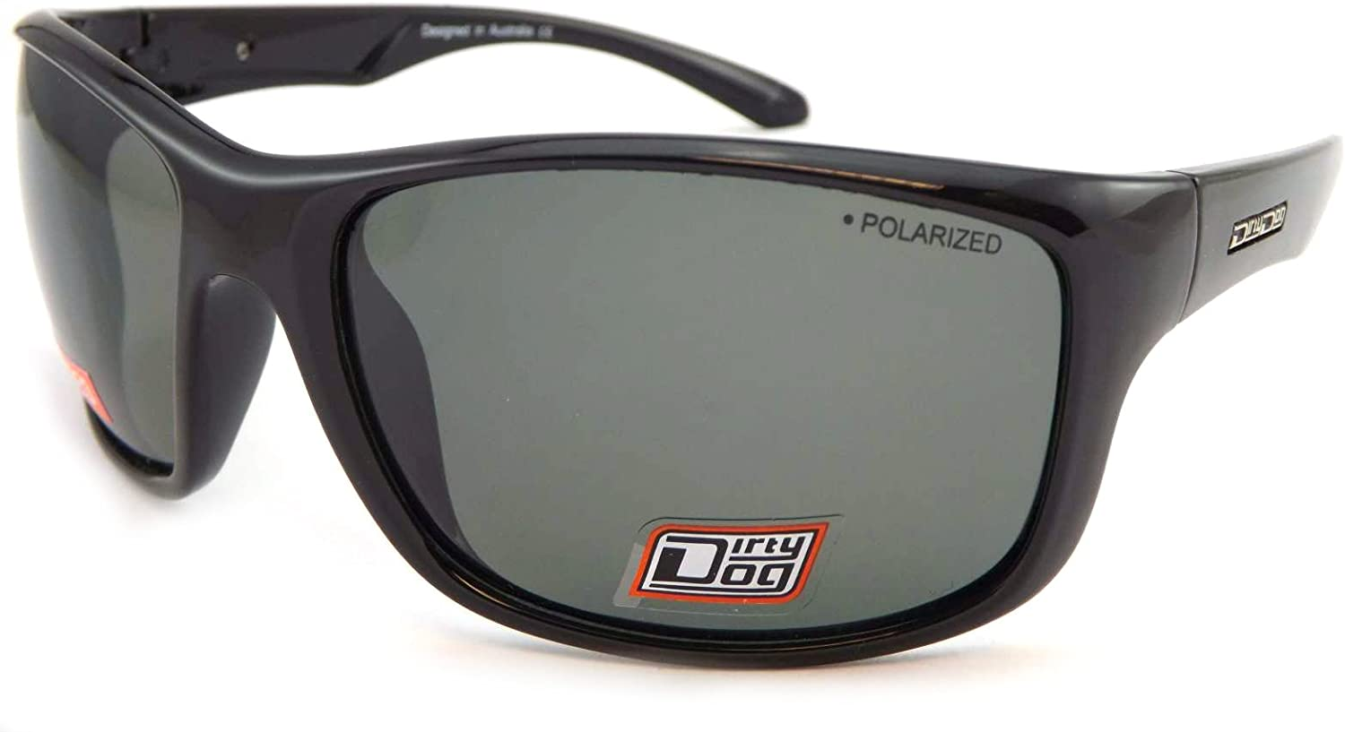 DIRTY DOG Polarised MEAT Wrap Sunglasses Olive Line Brown POLARIZED 53290