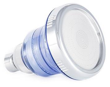 shower head chlorine filter hard water softener high pressure cirbic blue