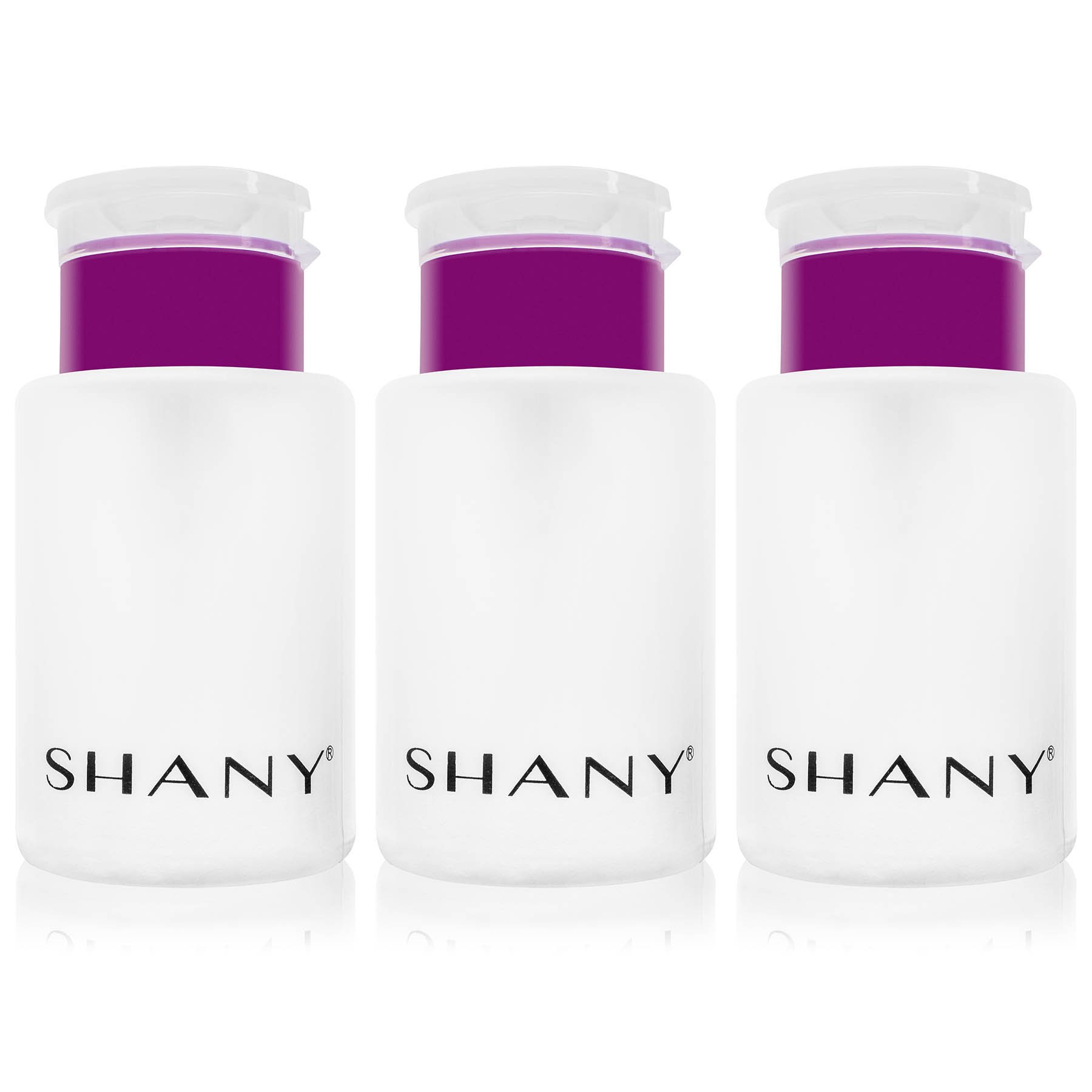 SHANY Push-Top Nail/Makeup/skin Care Liquid Dispenser with Snap Flip Top, 6OZ, Pack of 3