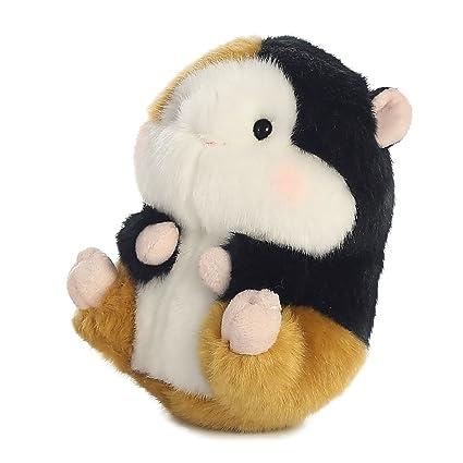 Black//White//Orange//Pink Aurora World Guinea Pig Mini Flopsies Plush Toy