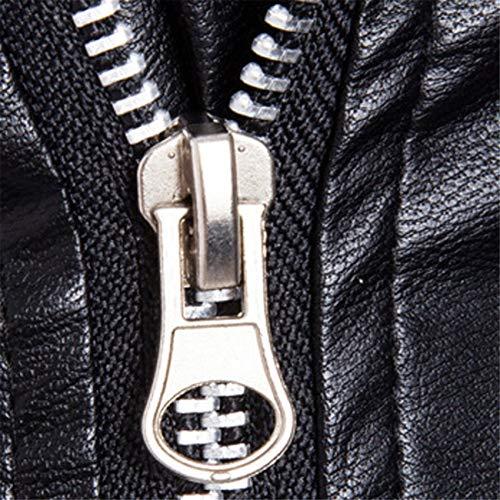 Inverno Pelle Amuster Autunno Top Lunga Giacca Nero Confortevole Moda Casual Uomo Cappottino In Zip Fashion Manica TdqySd