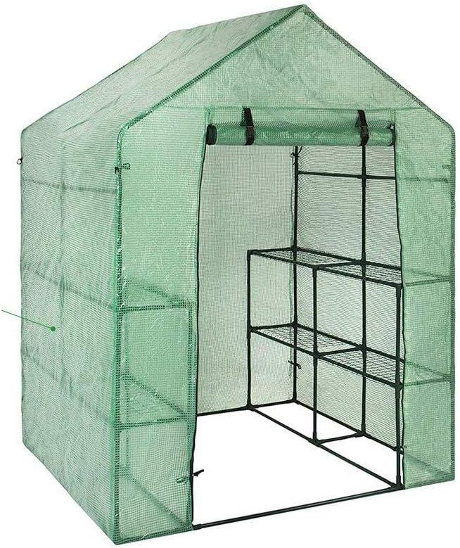 Invernadero de PVC para plantas de invierno, cubierta para plantas de jardín, invernadero, invernadero, invernadero, caseta de cultivo (sin soporte de hierro, solo tapa, maceta)