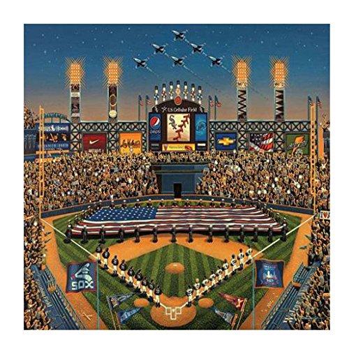 White BabyKidsBargains 00275 500 Piece Dowdle Folk Art Chicago Sox Puzzle