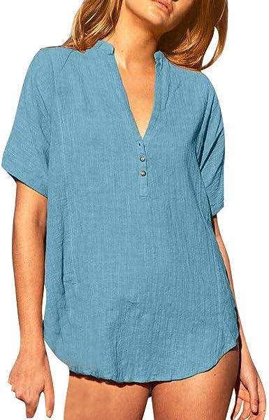 Blusas de Mujer Elegantes de Fiesta Camisa de Manga Corta con ...