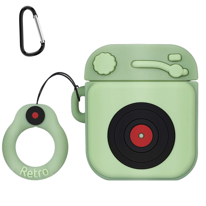 ویکالا · خرید  اصل اورجینال · خرید از آمازون · AirPods Case,MXTOY Protective Silicone Funny Cover Compatible with Apple Airpods 1&2,Designed for Kids Girls and Boys(3D Phonograph Cartoon Pattern)(1 Pack)-Light Green wekala · ویکالا