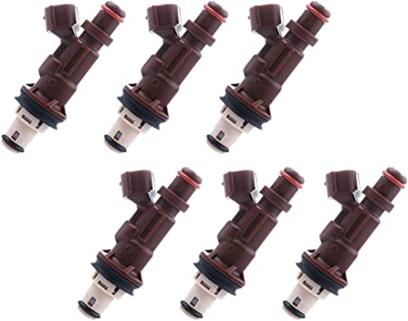 Pack of 6 Fuel Injector 2 Hole for Toyota 4Runner Toyota Tacoma Toyota Tundra 3.4L V6 23250-62040