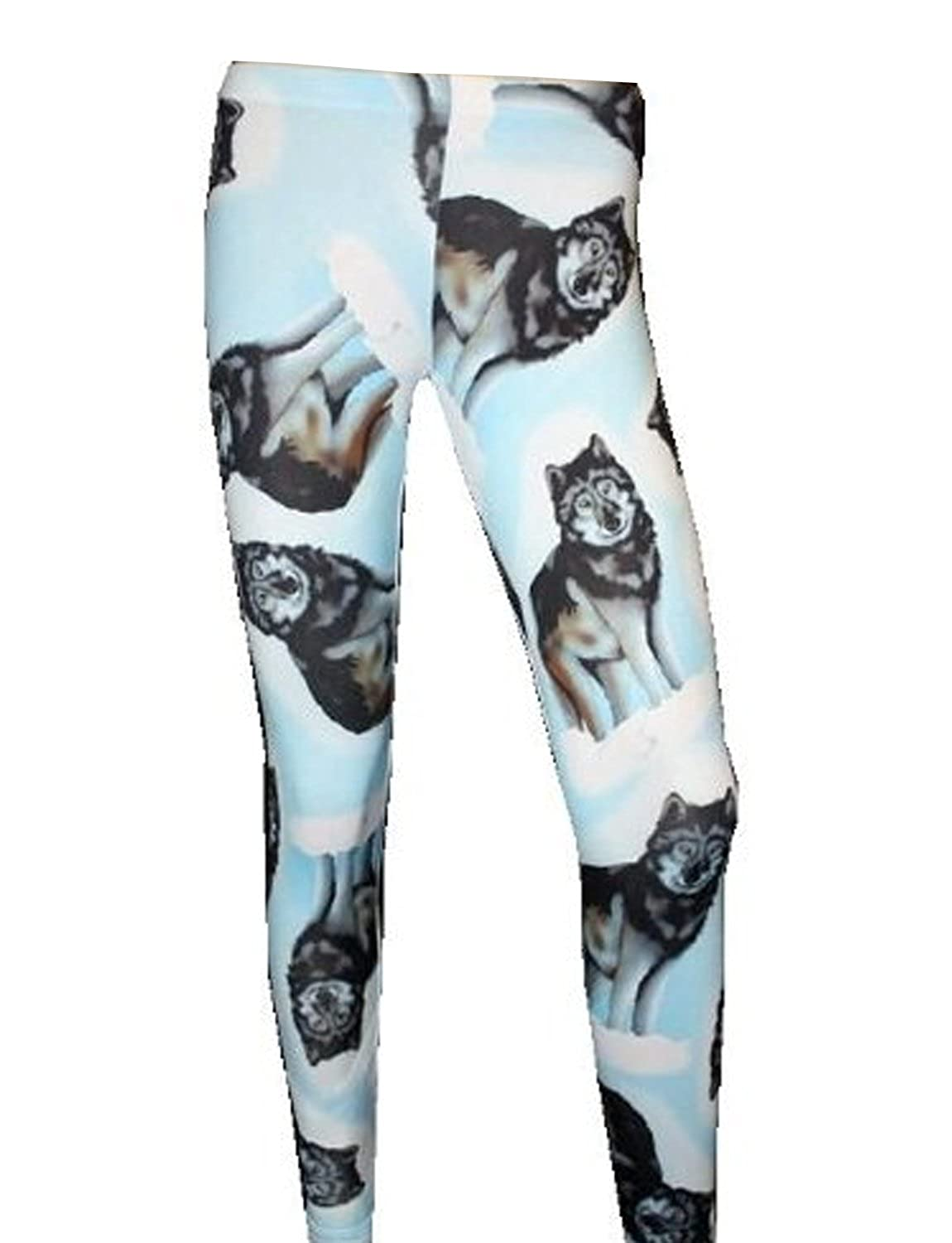 2c1ad351e50 Wolf Print Animal Leggings  Amazon.co.uk  Clothing